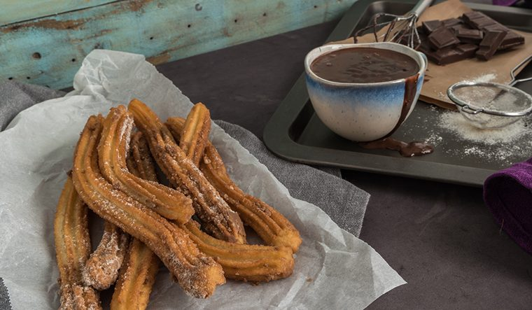 Spanish Churros  with Chocolate Sauce
